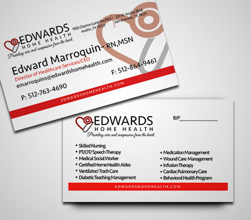 nurse business card design
