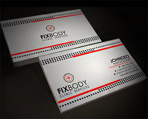 clinic business card design