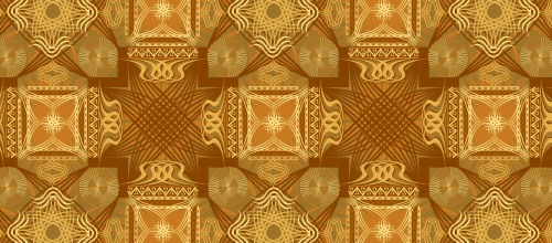brown arabesque patterns