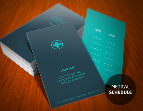 Designs Of Medical Business Cards For Doctors  Naldz Graphics