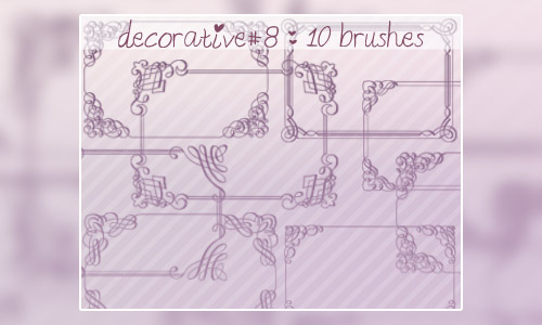 decorative brushes frames