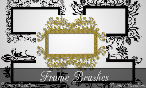 free decorative frame brushes