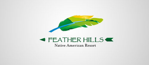 feather hills logo design