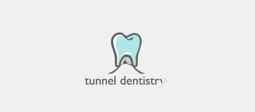 tunnel dentist logo design