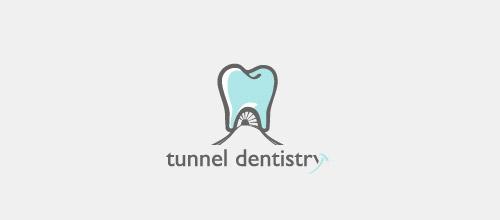 tunnel dentist logo design