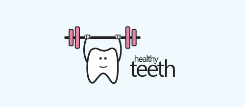 simple tooth dentist logo