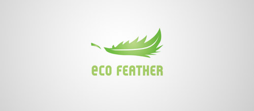 eco feather logo design