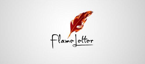 flame letter logo design