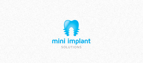 mini implant solutions logo design