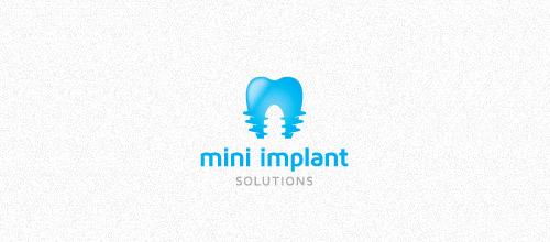 mini implant solutions logo design