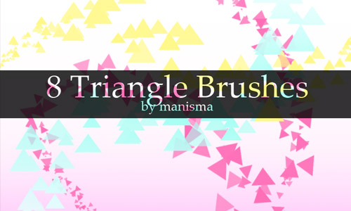 cool triangle brushes