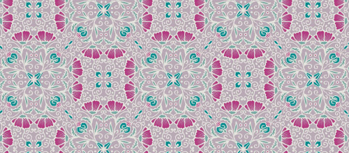 pink arabesque patterns