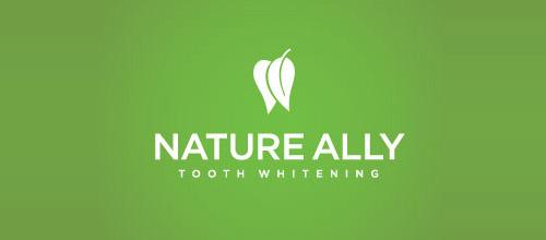 nature ally logo design tooth