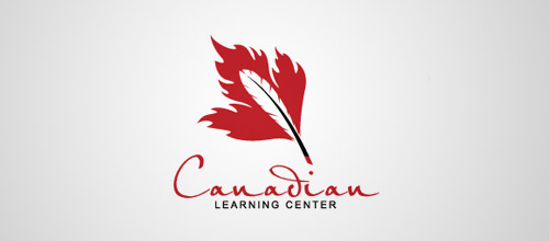 Canadian learning ceneter logo feather