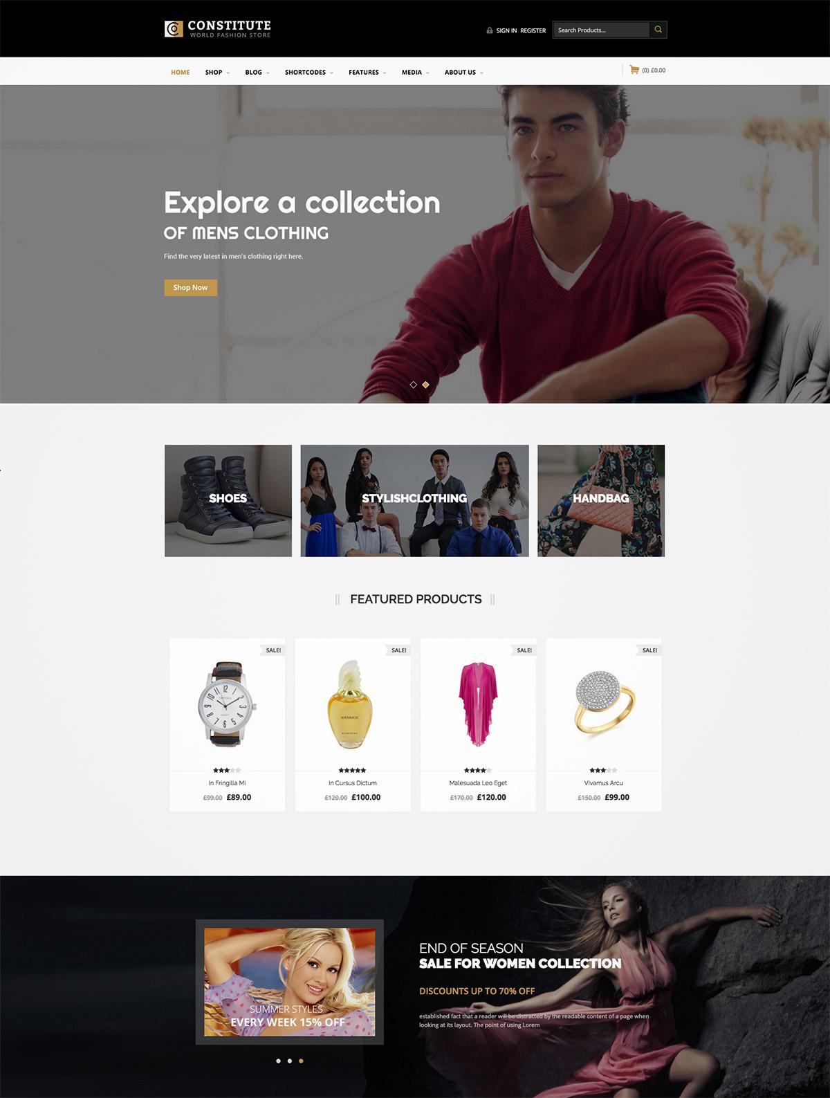 responsive ecommerce premium