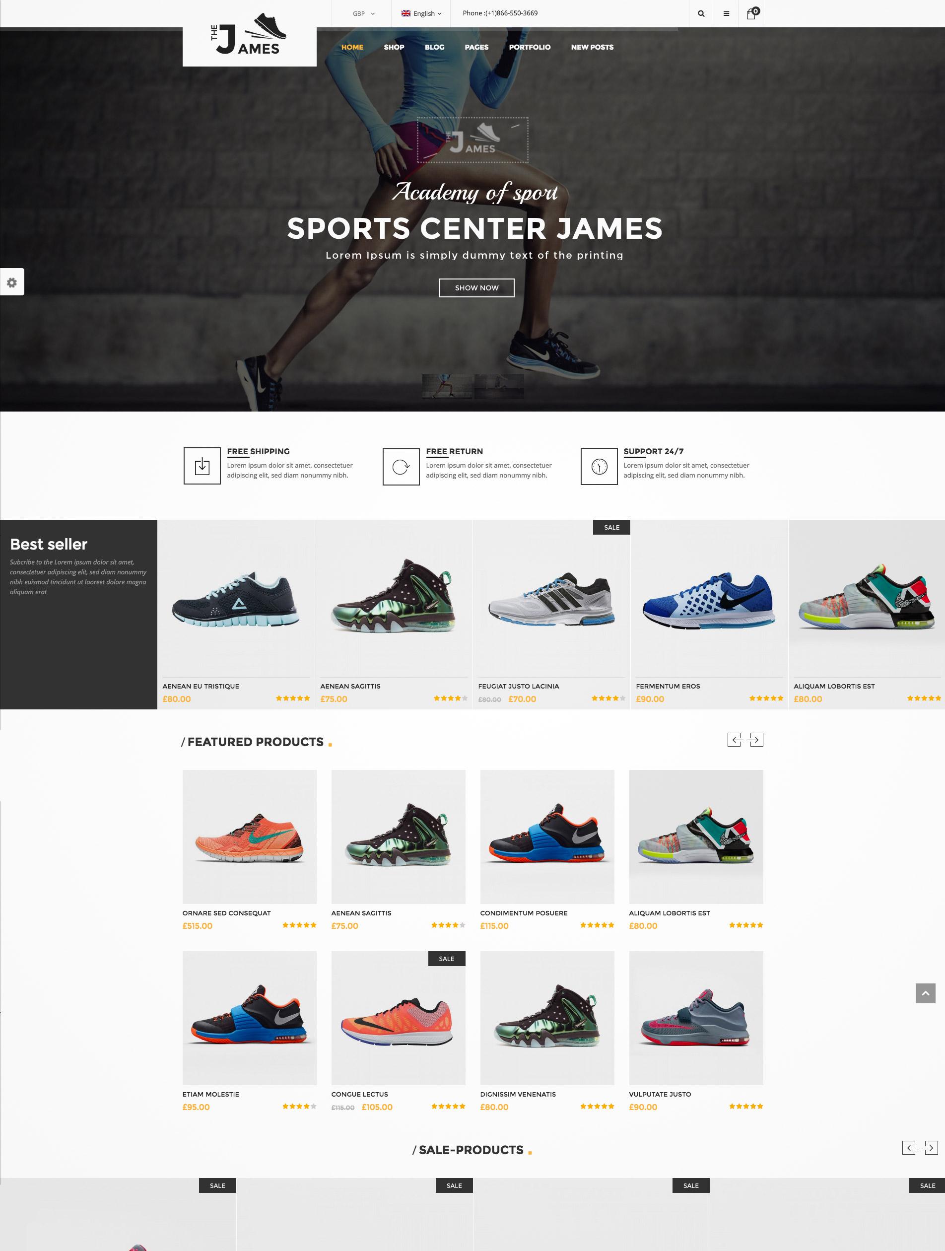shoe shop theme