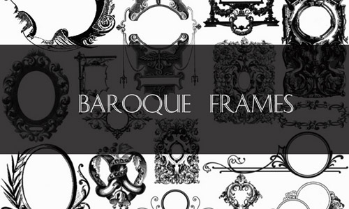 baroque frames brushes