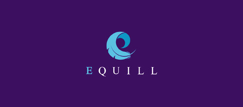 quill feather logo design