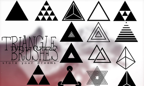 free photoshop brushes triangles