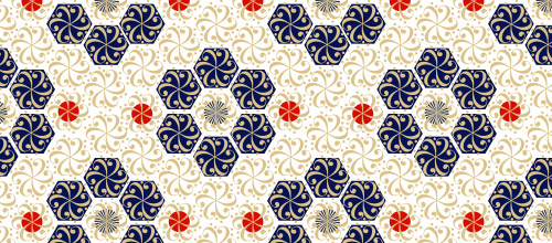 hexagon arabesque patterns