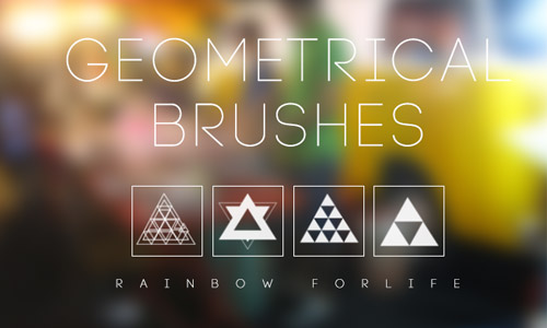 geometric triangles brushes