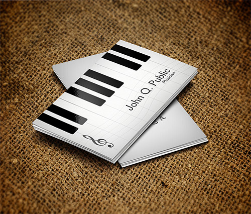 20 fantastic business cards for musicians naldz graphics piano musician business card colourmoves