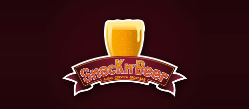 snack beer logo