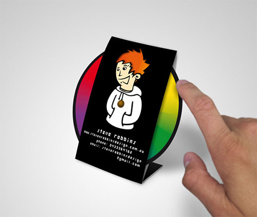 steve robbins folding business card