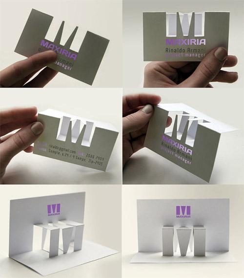 maxiria business card