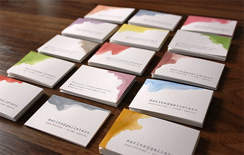 An Awesome Collection Of Watercolor Business Cards Naldz Graphics