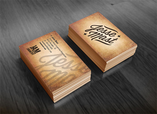 musician project business card