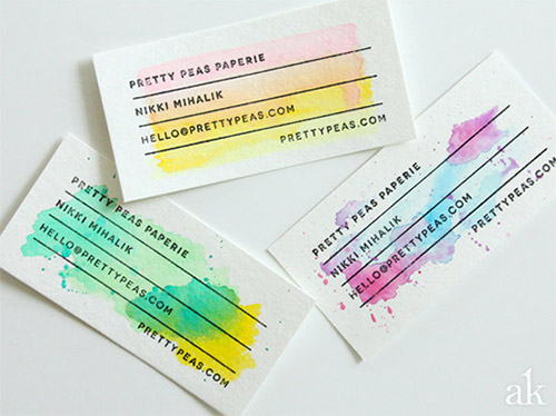 An awesome collection of watercolor business cards naldz graphics diy watercolor business card colourmoves