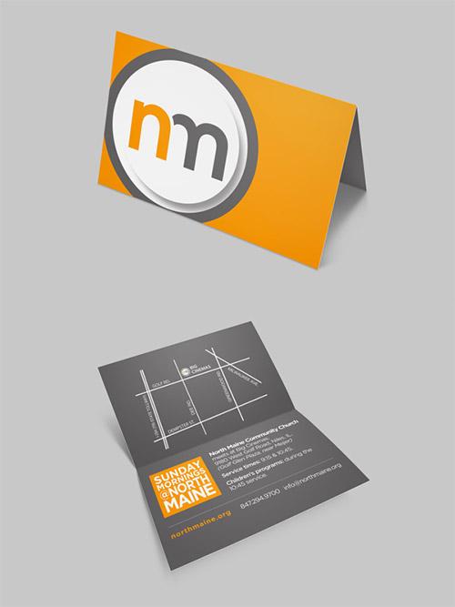folded invite card