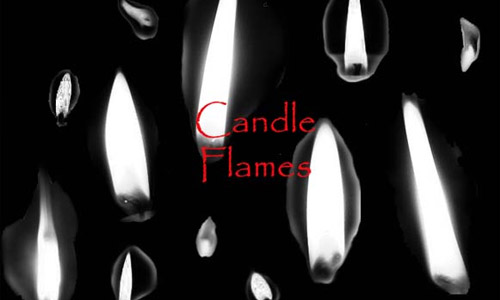 photoshop brushes candles flame