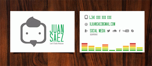 band business card