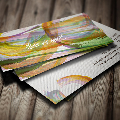 beautiful watercolor business card