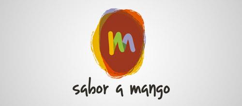 sabor a mango logo design