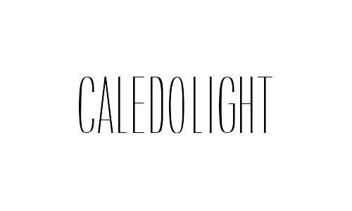 caledo free thin fonts