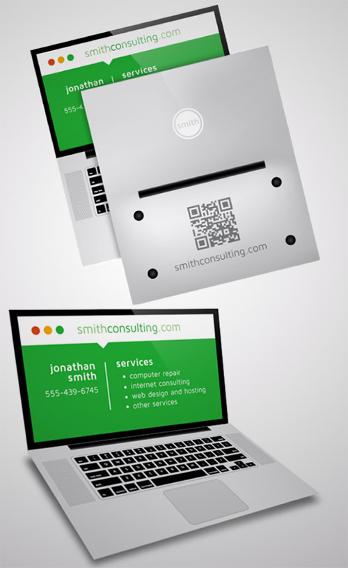 20 folded business cards that will give you ideas naldz graphics computer repair business card colourmoves