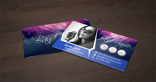 singer business card template
