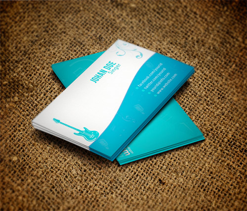 musician business card