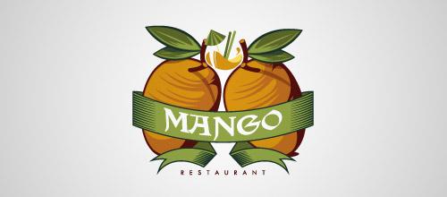 mango restaurant logo design