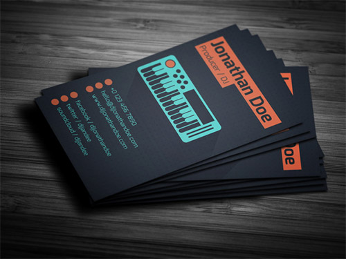 business card DJ