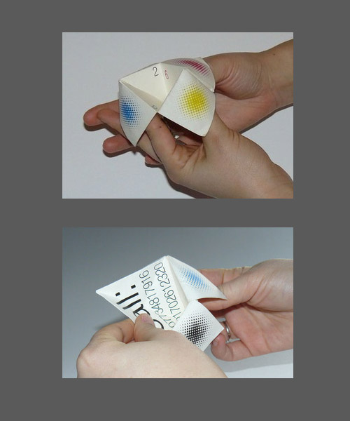 play folded business card