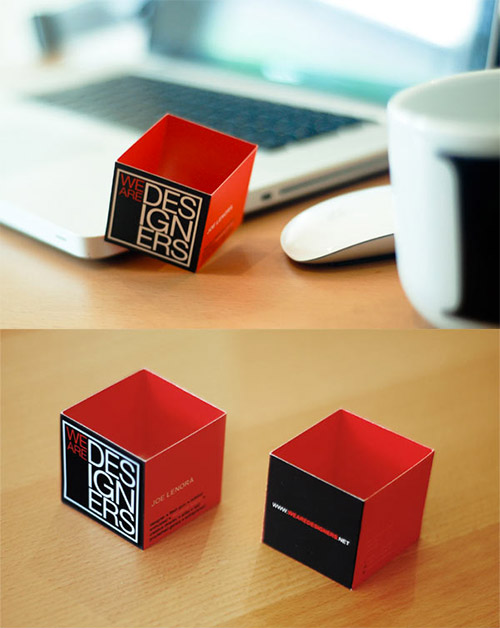 designers folded business card