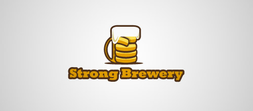 strong brewery beer logo