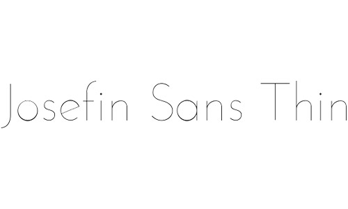 josefin san free fonts thin