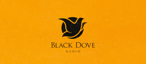 black dove audio logo design