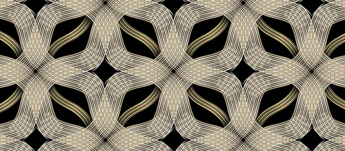 free gold weave patterns