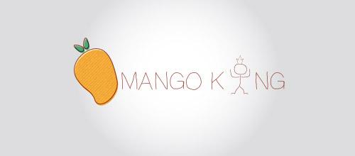 mango king logo design